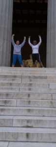 Rock and I at the Lincoln Memorial