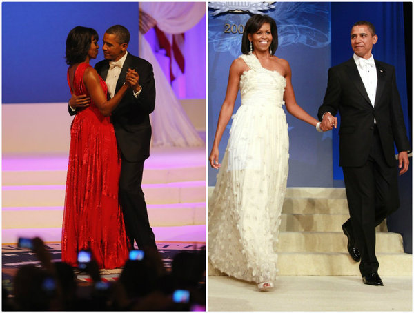 On the right 2009 inaugural ball, on the left 2013 inaugural ball.