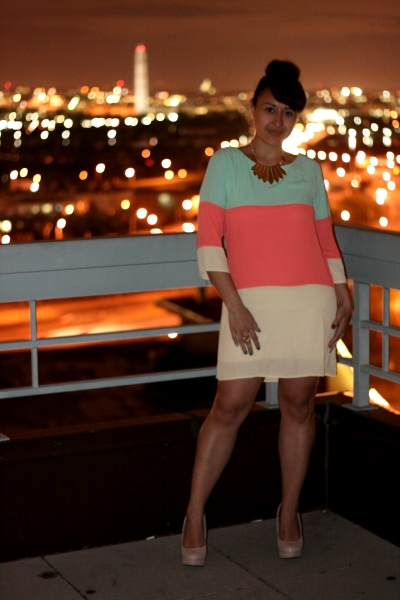 On the terrace at night