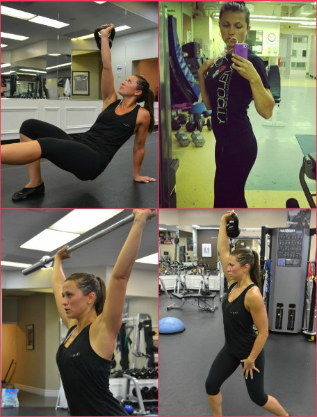 Krystyna working out