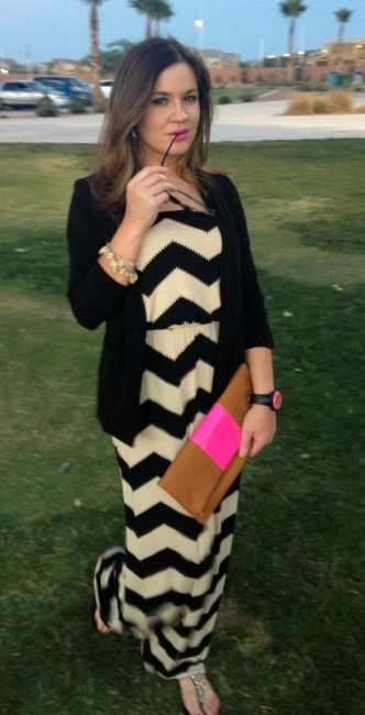 full maxi dress outfit with blazer