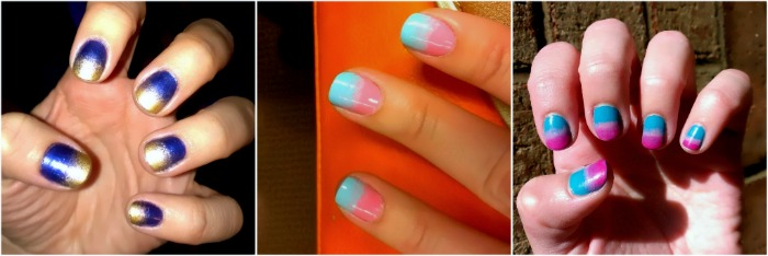 Ombre, oh lay! nail designs. Using a triangle sponge applicator for the ombre effect.