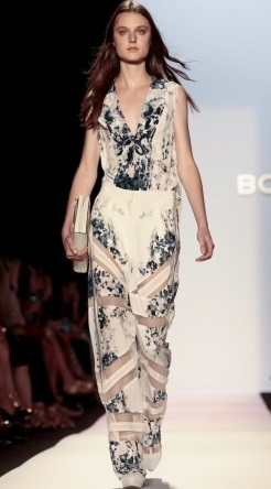 A little sheer cut outs here and there but love the print. Courtesy of NowFashion.com BCBGMAXAZRIA S/S 2014