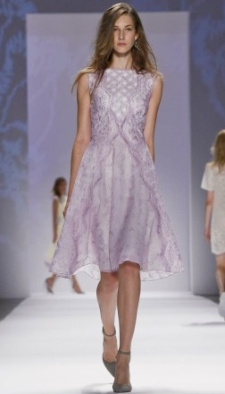 My favorite look, light lavender delicate gorgeouness! Courtesy of nowfashion.com Shoji S/S 2014
