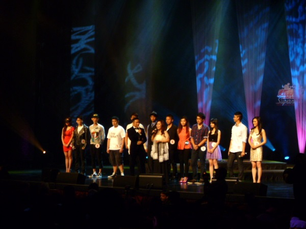 All the contestants of Supernova Chinese American Singing Contest.