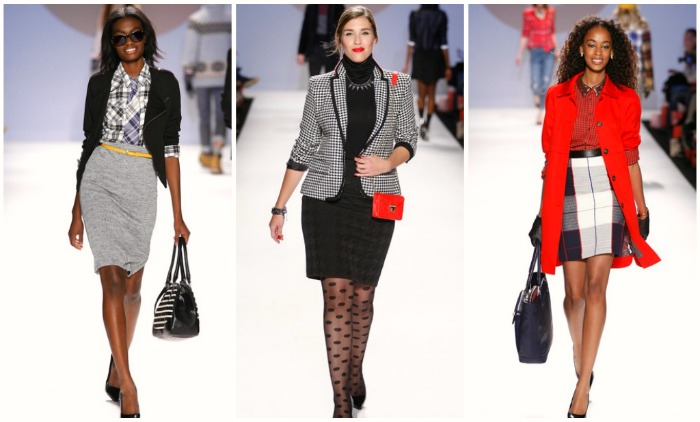 Skirts for the office or a dinner with the ladies, these looks bring the modern well put together vibe we all want to wear in our day to day lives. *Give it up to the normal size model in the middle! *curves* Credit to Edward James, nowfashion.com