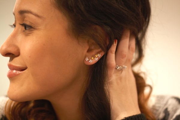 MY FAV PURCHASE for earrings this holiday season, Leave Earrings by Amorium. Edgy and delicate at the same time!