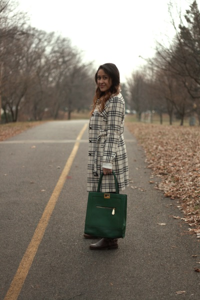 Green bag by Aldo Shoes.