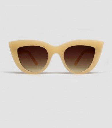 Quay Australia Kitti sunglases, light beige. I love a good pair of sunglasses that always catch your attention. Something different for summer 2015!